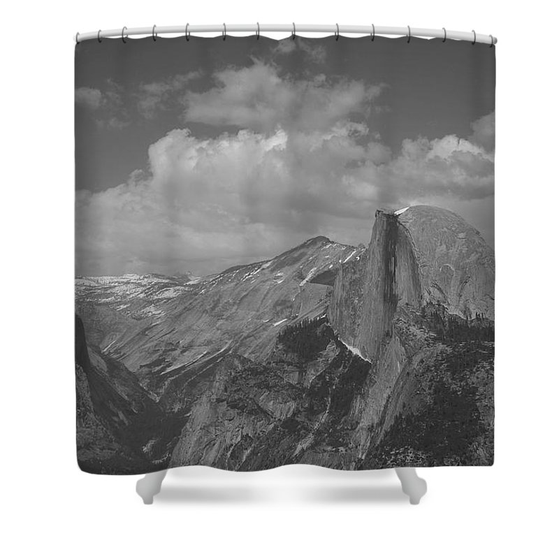 Half Dome Shower Curtain featuring the photograph Glacier Point by Travis Day