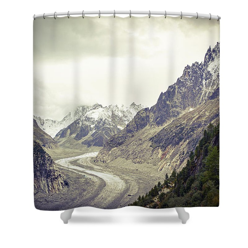 Glacier Shower Curtain featuring the photograph Glacierway by Christina Zizzo