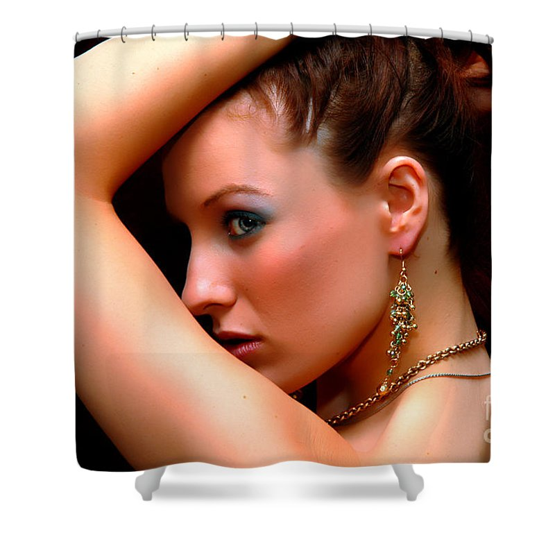 Clay Shower Curtain featuring the photograph Glam Girl by Clayton Bruster