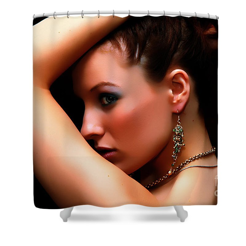 Clay Shower Curtain featuring the photograph Glamour Girl by Clayton Bruster