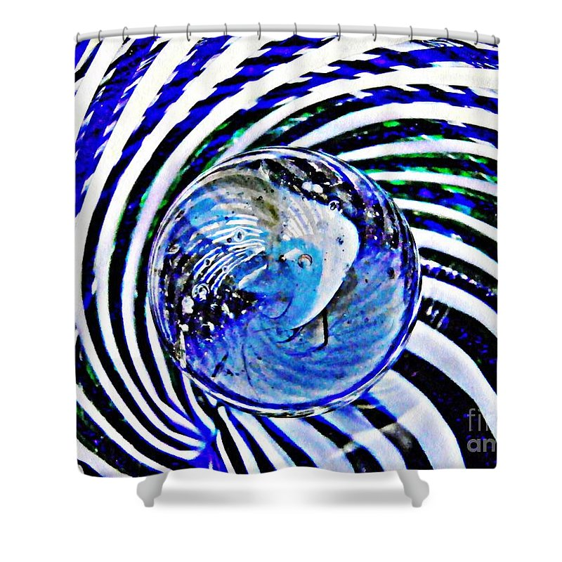 Glass Shower Curtain featuring the photograph Glass Abstract 109 by Sarah Loft