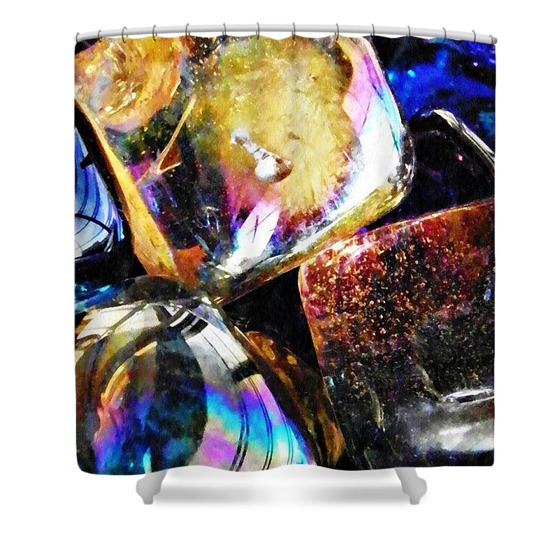 Abstract Shower Curtain featuring the photograph Glass Abstract 114 by Sarah Loft