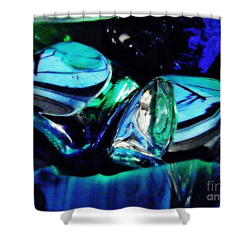 Glass Shower Curtain featuring the photograph Glass Abstract 141 by Sarah Loft