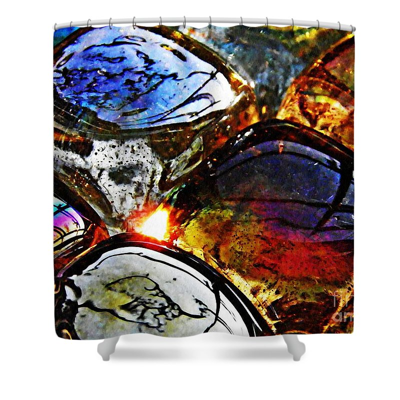 Glass Shower Curtain featuring the photograph Glass Abstract 2 by Sarah Loft