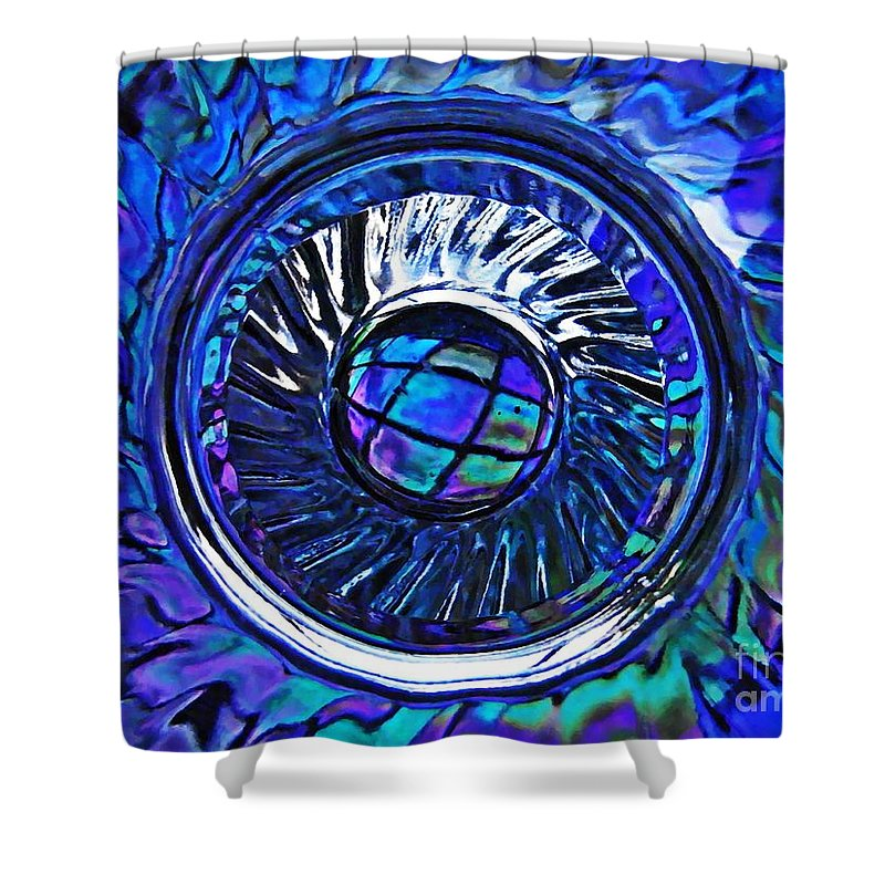 Abstract Shower Curtain featuring the photograph Glass Abstract 480 by Sarah Loft