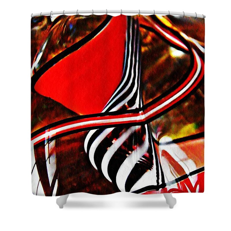 Abstract Shower Curtain featuring the photograph Glass Abstract 500 by Sarah Loft