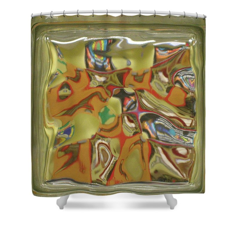 Glass Shower Curtain featuring the photograph Glass Block by Denise Keegan Frawley