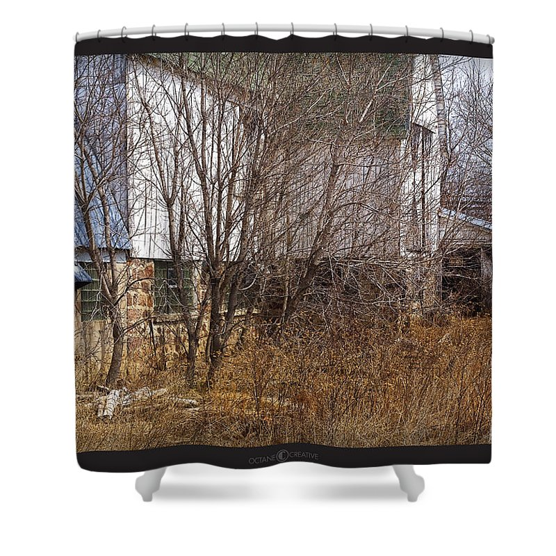 Barn Shower Curtain featuring the photograph Glass Block by Tim Nyberg