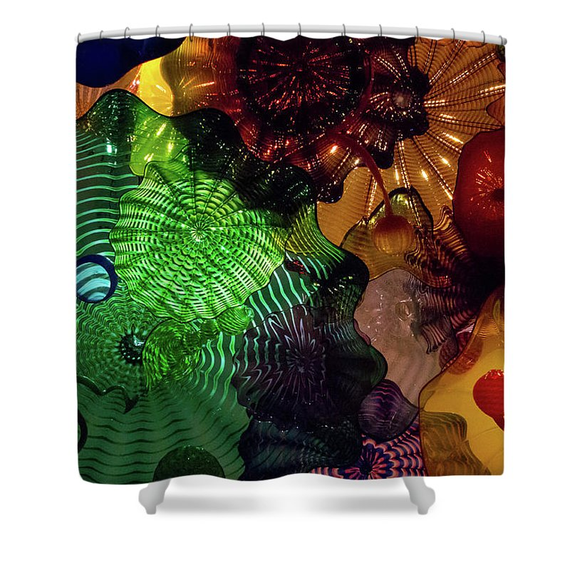 Glass Shower Curtain featuring the photograph Glass Explosion by Brigitte Mueller