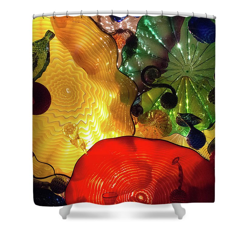Glass Shower Curtain featuring the photograph Glass Expressions by Brigitte Mueller