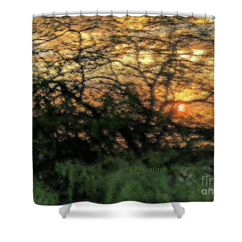 Sunset Shower Curtain featuring the photograph Glass Sunset Hawaii by Heather Coen