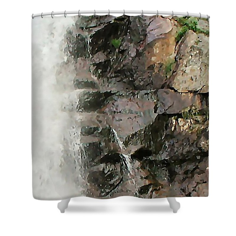 Waterfall Shower Curtain featuring the photograph Glen Falls Abstract by Dave Martsolf