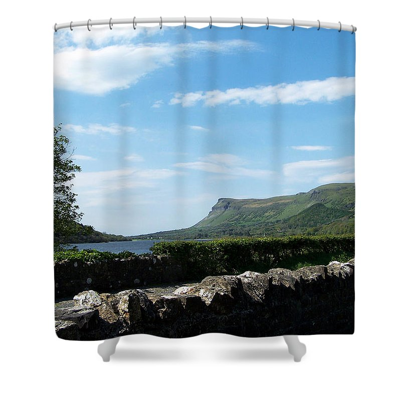 Irish Shower Curtain featuring the photograph Glencar Lake With View Of Benbulben Ireland by Teresa Mucha