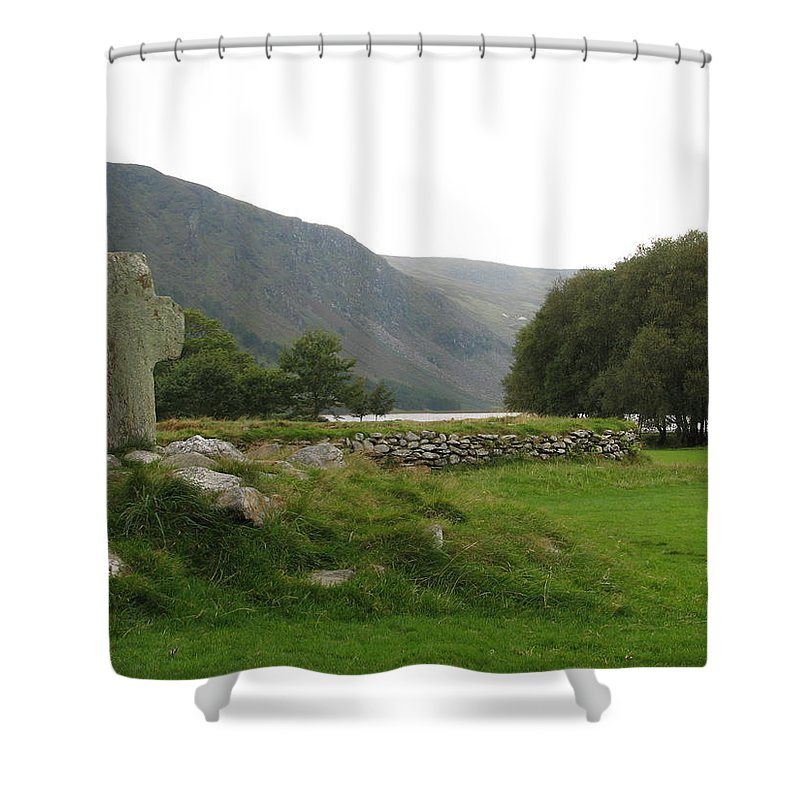 Glendalough Shower Curtain featuring the photograph Glendalough by Kelly Mezzapelle