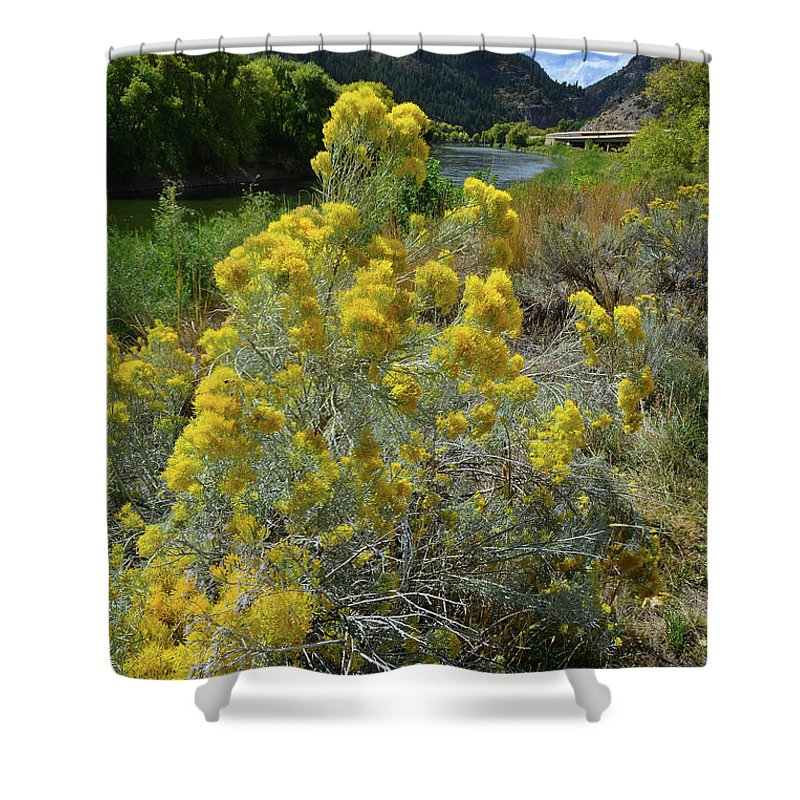 Colorado Shower Curtain featuring the photograph Glenwood Canyon by Ray Mathis