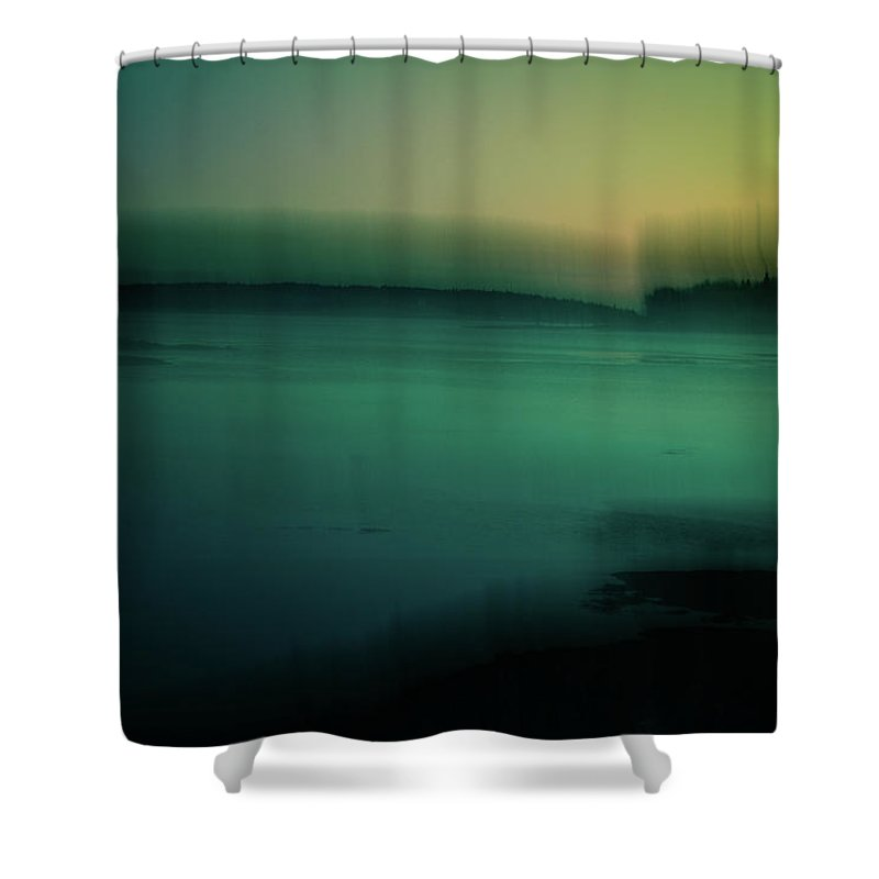 Maine Shower Curtain featuring the photograph Gloaming by Olivia StClaire