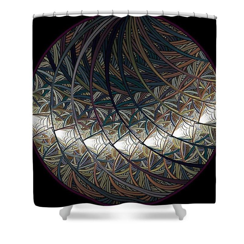 Fractal Shower Curtain featuring the digital art Globulus by Elena Ivanova IvEA