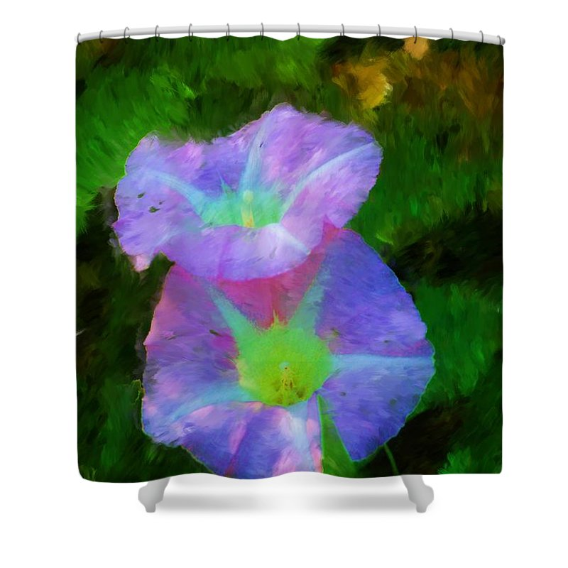 Floral Shower Curtain featuring the painting Gloria In The Shade by David Lane