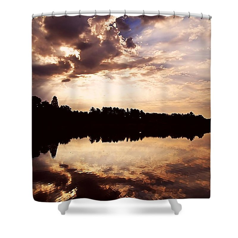 Sunrise Shower Curtain featuring the photograph Glorious Moments by Gaby Swanson