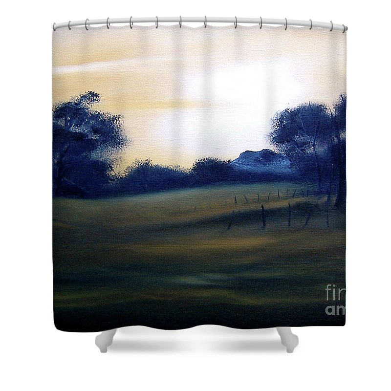 Painting Shower Curtain featuring the painting Glow Of Morn. by Cynthia Adams