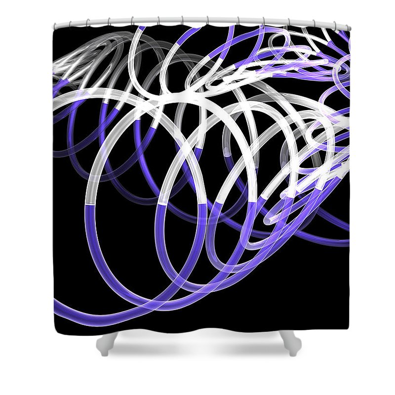 Scott Piers Shower Curtain featuring the painting Glow Stix by Scott Piers