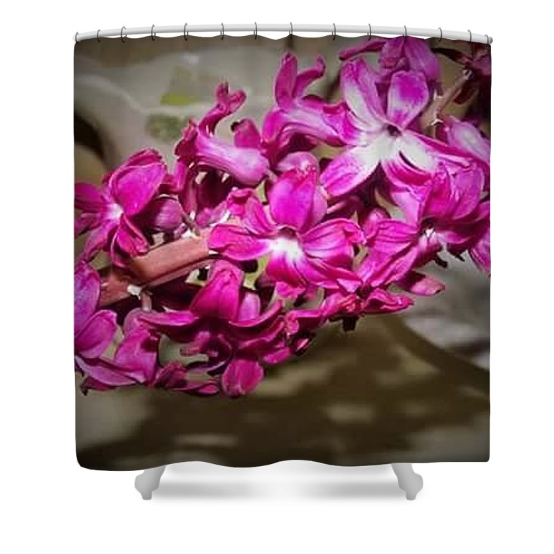 Landscape Flowers Shower Curtain featuring the photograph Glowing Blossoms by Jeanna Tate