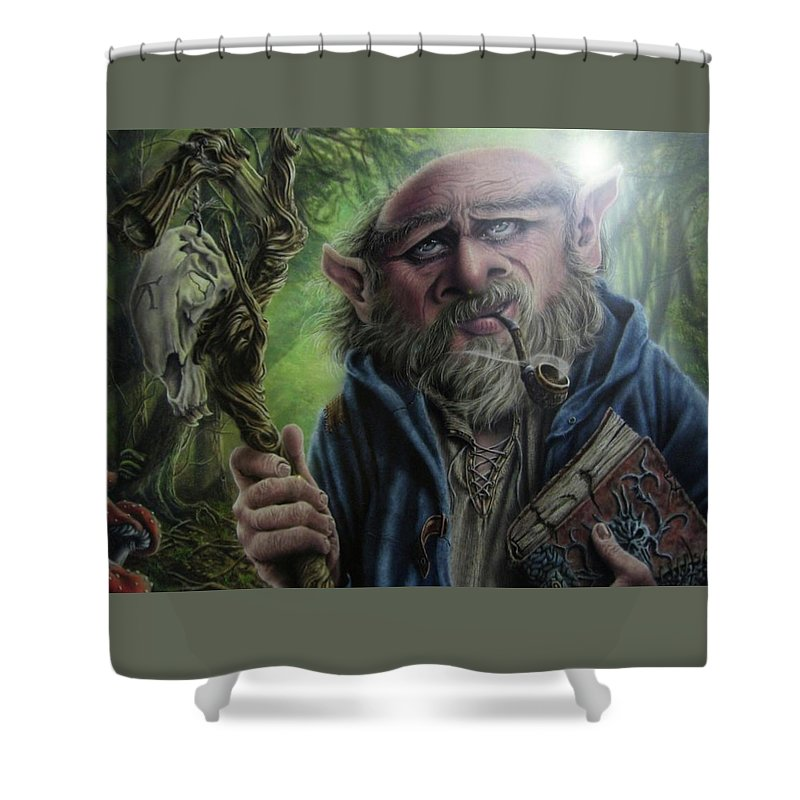 Gnome Wizard Shower Curtain For Sale By Robert Haasdijk