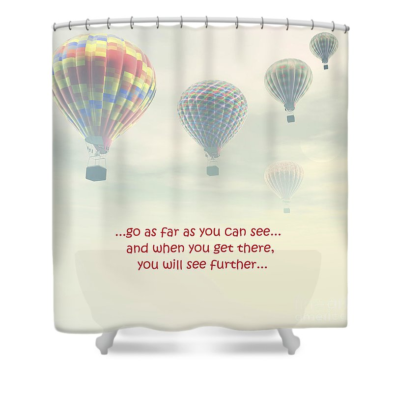 Shower Curtain featuring the photograph Go As Far As You Can See by Terrie Sizemore