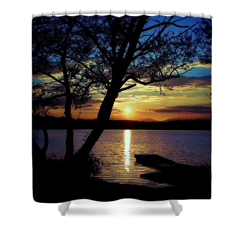 Landscape Shower Curtain featuring the photograph Go To Nature by Mitch Cat