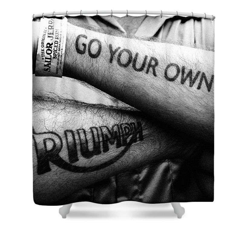 Triumph Shower Curtain featuring the photograph Go Your Own Way by Keith May