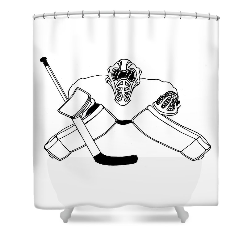 Goalie Equipment Shower Curtain For Sale By Hockey Goalie