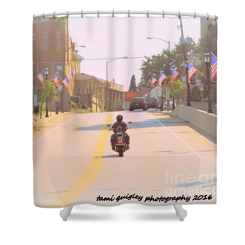God Shower Curtain featuring the photograph God Bless America by Tami Quigley
