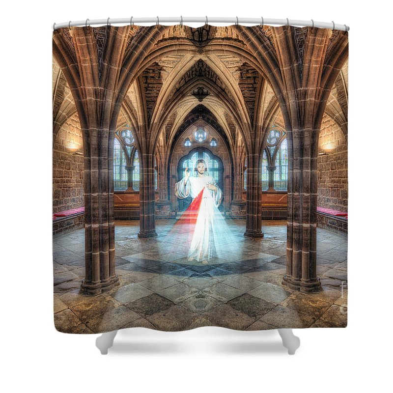Chapel Shower Curtain featuring the photograph God Hears Our Prayers by Ian Mitchell