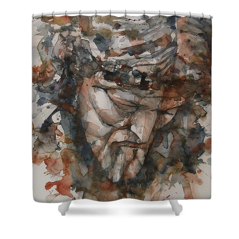 God Shower Curtain featuring the painting God Is Great by Paul Lovering