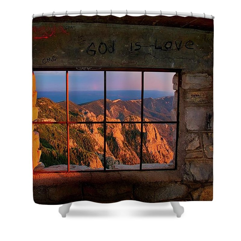 Nature Shower Curtain featuring the photograph God is Love by Zayne Diamond Photographic