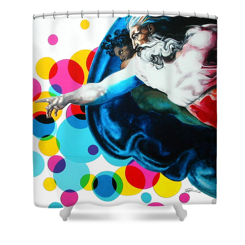 Classic Shower Curtain featuring the painting God by Jean Pierre Rousselet