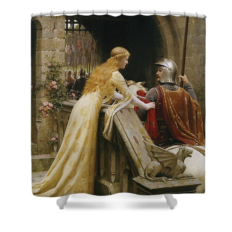 God Speed Shower Curtain featuring the painting God Speed by Edmund Blair Leighton
