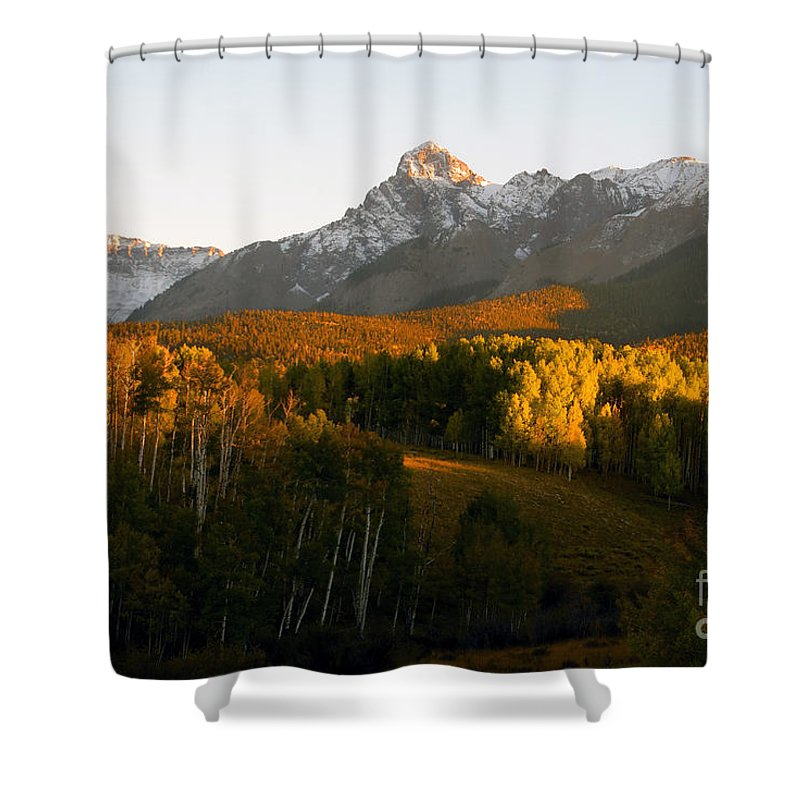 Landscape Shower Curtain featuring the photograph God's Country by David Lee Thompson