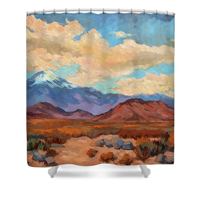 God's Creation Mt. San Gorgonio Shower Curtain featuring the painting God's Creation Mt. San Gorgonio by Diane McClary