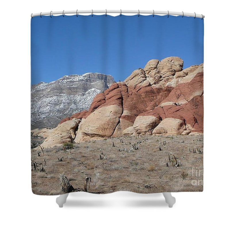 Desert Shower Curtain featuring the photograph Gods Handiwork by Barb Montanye Meseroll