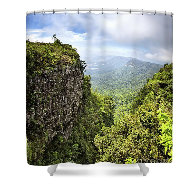 Gods Shower Curtain featuring the photograph God's Window And The Blyde River Canyon by Jane Rix