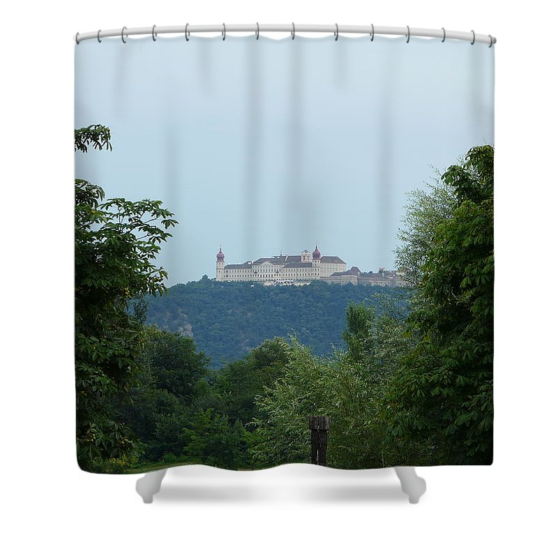 Landscape Shower Curtain featuring the photograph Goettweig Abbey by Valerie Ornstein