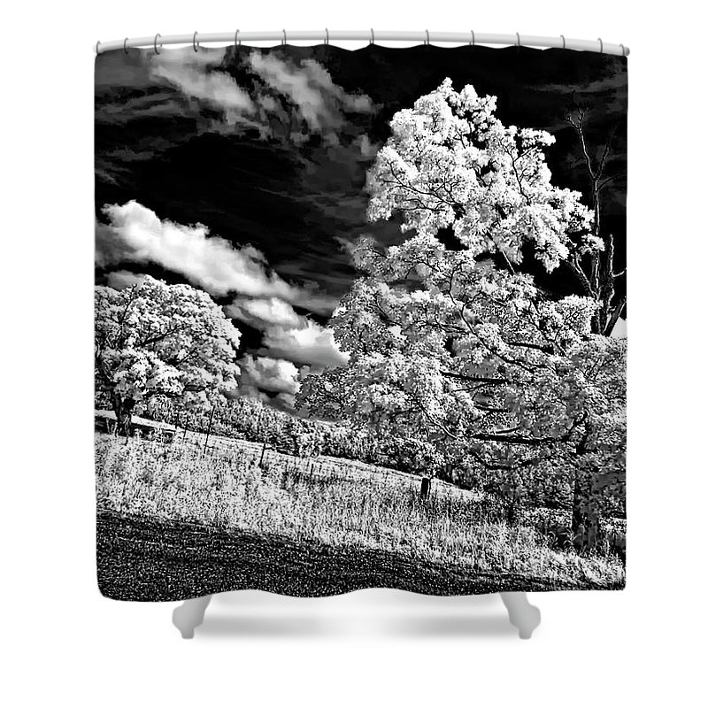 Infrared Shower Curtain featuring the photograph Goin' Down The Road 2 by Steve Harrington