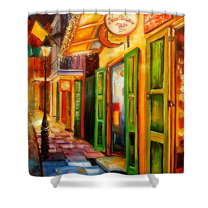 New Orleans Shower Curtain featuring the painting Going Back To New Orleans by Diane Millsap