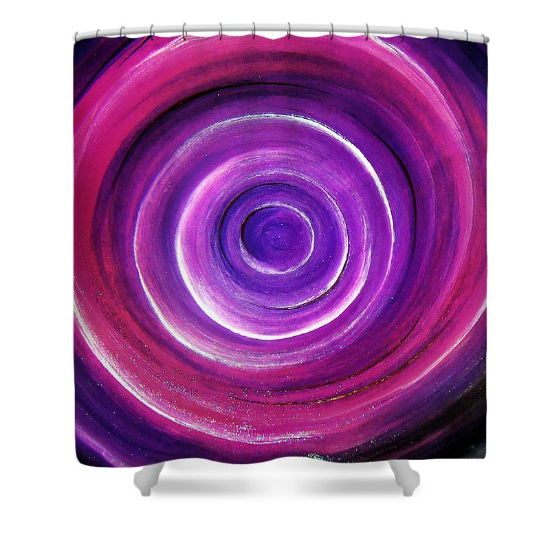 Going Shower Curtain Featuring The Painting Into Deep Purple By Sofia Metal Queen