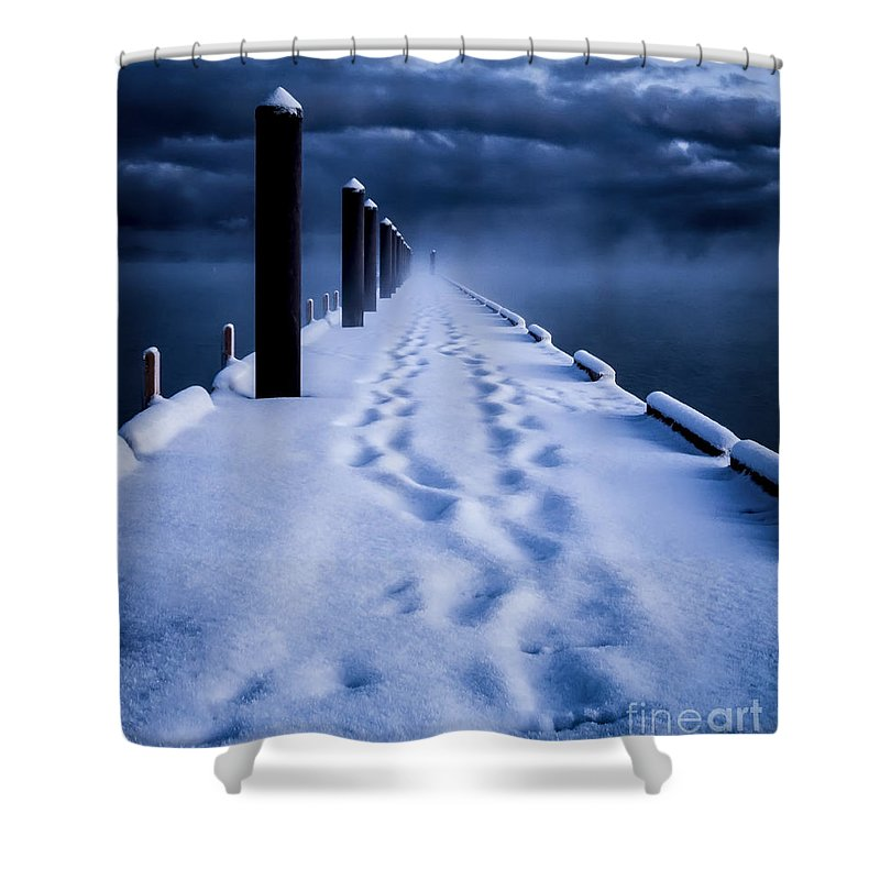 Tahoe Shower Curtain featuring the photograph Going To The End by Mitch Shindelbower