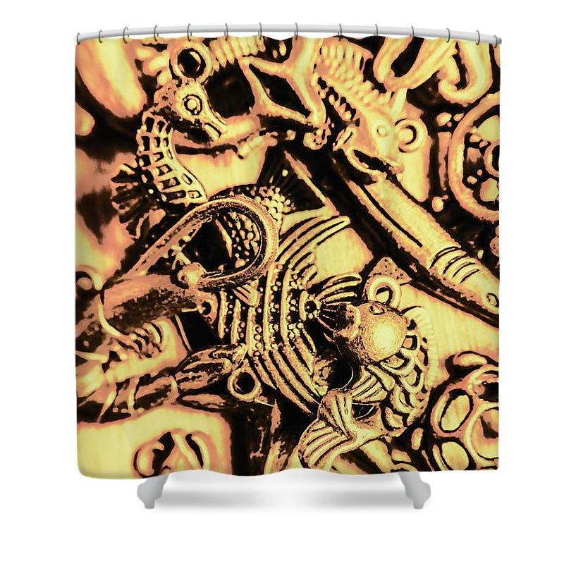 Fish Shower Curtain featuring the photograph Gold Aquarium by Jorgo Photography - Wall Art Gallery