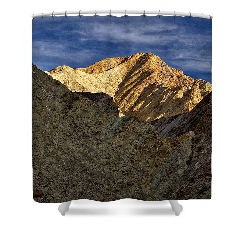 Death Valley Shower Curtain featuring the photograph Golden Canyon View #2 - Death Valley by Stuart Litoff