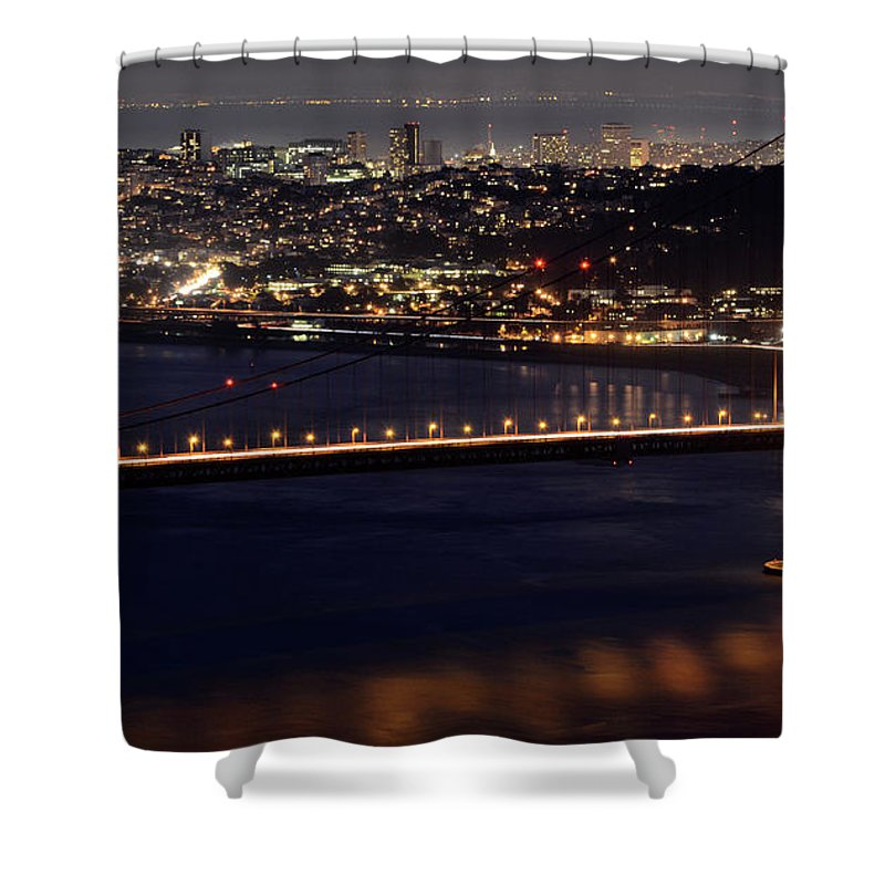 San Francisco Shower Curtain featuring the photograph Golden Gate by Bob Christopher