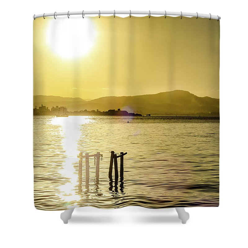 Landscape Shower Curtain featuring the photograph Golden Hour by Marco Oliveira